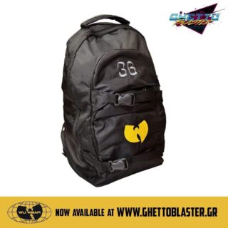 Wu tang backpack 🎒 is now available 💥 #ghettoblastergr #wutangclan 🔥